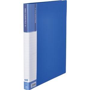その他 (まとめ) TANOSEEPPクリヤーファイル(差替式) A4タテ 30穴 15ポケット ブルー 1冊 【×30セット】 ds-2239063