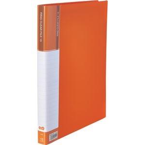 その他 (まとめ) TANOSEEPPクリヤーファイル(差替式) A4タテ 30穴 15ポケット オレンジ 1冊 【×30セット】 ds-2239066