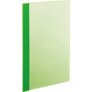 その他 (まとめ) TANOSEE薄型クリアブック(角まる) A4タテ 10ポケット グリーン 1パック(5冊) 【×30セット】 ds-2239234