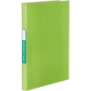 その他 (まとめ) キングジム シンプリーズクリアーファイル(透明) A4タテ 40ポケット 背幅22mm 黄緑 TH184TSPWG 1冊 【×30セット】 ds-2239263
