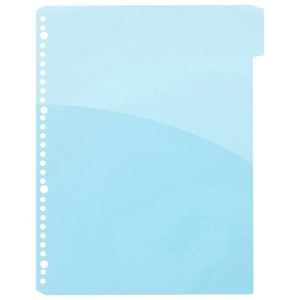 その他 (まとめ) TANOSEEPP製ハーフポケットリフィル(3山インデックス) A4タテ 1山目 ブルー 1パック(10枚) 【×30セット】 ds-2239557
