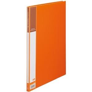 その他 (まとめ) TANOSEE書類が入れやすいクリヤーファイル「ヨコカラ」 A4タテ 40ポケット 背幅11mm オレンジ 1冊 【×30セット】 ds-2239652