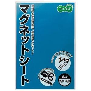 その他 (まとめ) TANOSEE マグネットカラーシートワイド 300×200×0.8mm 青 1枚 【×30セット】 ds-2241324