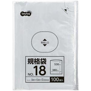 その他 (まとめ) TANOSEE 規格袋 18号0.02×380×530mm 1パック(100枚) 【×30セット】 ds-2241566