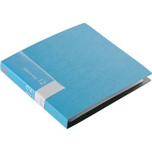 その他 (まとめ) バッファローCD&DVDファイルケース ブックタイプ 12枚収納 ブルー BSCD01F12BL 1個 【×50セット】 ds-2241834