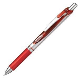 その他 (まとめ) ぺんてる ゲルインクボールペン ノック式エナージェル 0.5mm 赤 (軸色 シルバー) BLN75Z-B 1本 【×50セット】 ds-2242300