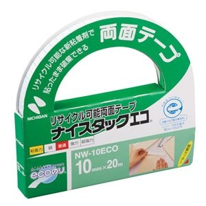 その他 (まとめ) ニチバン ナイスタックエコリサイクル可能両面テープ 大巻 10mm×20m NW-10ECO 1巻 【×50セット】 ds-2242673