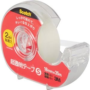 その他 (まとめ) 3M スコッチ 超透明テープS 600小巻 18mm×35m ディスペンサー付 600-1-18DN 1個 【×50セット】 ds-2242682