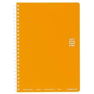 その他 (まとめ) コクヨソフトリングノート(ドット入り罫線) A5 B罫 50枚 オレンジ ス-SV331BT-YR 1冊 【×50セット】 ds-2243153