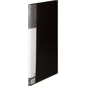 その他 (まとめ) TANOSEEクリヤーファイル(台紙入) A4タテ 10ポケット 背幅11mm ダークグレー 1冊 【×50セット】 ds-2243421