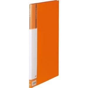 その他 (まとめ) TANOSEEクリヤーファイル(台紙入) A4タテ 10ポケット 背幅11mm オレンジ 1冊 【×50セット】 ds-2243422