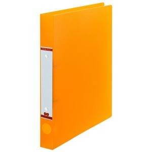 その他 (まとめ) TANOSEEOリングファイル(半透明表紙) A4タテ リング内径25mm オレンジ 1冊 【×50セット】 ds-2243555