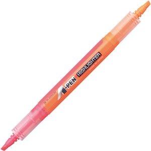 その他 (まとめ) プラチナ A-PEN 蛍光ラインマーカーツイン ピンク/オレンジ CSAW-150 #74/75 1本 【×100セット】 ds-2244485