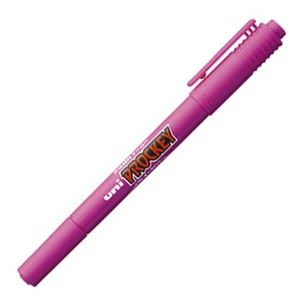 その他 (まとめ) 三菱鉛筆 水性マーカー プロッキー 細字丸芯+極細 赤紫 PM120T.11 1本 【×100セット】 ds-2244700