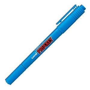 その他 (まとめ) 三菱鉛筆 水性マーカー プロッキー 細字丸芯+極細 水色 PM120T.8 1本 【×100セット】 ds-2244703
