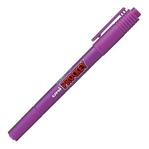 その他 (まとめ) 三菱鉛筆 水性マーカー プロッキー 細字丸芯+極細 紫 PM120T.12 1本 【×100セット】 ds-2244704