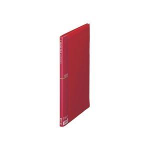 その他 (まとめ) テージー クリアファイル A4タテ10ポケット 背幅10mm ワインレッド CF-441-18 1冊 【×100セット】 ds-2245455