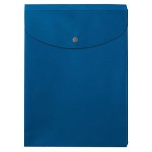 その他 (まとめ) プラス シンプルワークポケット付エンベロープ マチ付 A4タテ ブルー FL-120CH 1枚 【×100セット】 ds-2245464