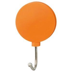 その他 (まとめ) TANOSEE カラーマグネットフック スイング 耐荷重約1kg 橙 1個 【×100セット】 ds-2245583