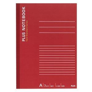 その他 (まとめ) プラス ノートブック セミB5A罫7mm 30枚 レッド NO-003AS 1冊 【×300セット】 ds-2245886