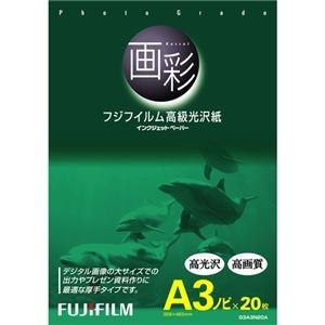 その他 (まとめ) 富士フィルム FUJI 画彩 高級光沢紙 A3ノビ G3A3N20A 1冊(20枚) 【×5セット】 ds-2220538