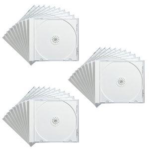 その他 (まとめ) サンワサプライ DVD・CDケースホワイト FCD-PN30W 1パック(30枚) 【×5セット】 ds-2220686