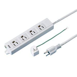 その他 (まとめ) TANOSEE OAタップ 抜け止め 通電ランプ・マグネット付 3P・4個口 5.0m 1個  【×5セット】 ds-2220852:激安!家電のタンタンショップ
