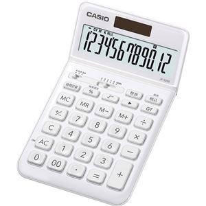その他 (まとめ) カシオ デザイン電卓 12桁ジャストタイプ ホワイト JF-S200-WE-N 1台 【×5セット】 ds-2221131