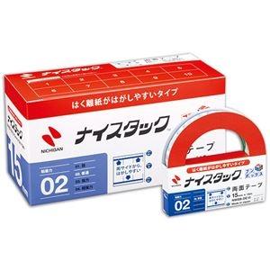 その他 (まとめ) ニチバン ナイスタック 両面テープ はくり紙がはがしやすいタイプ ブンボックス 大巻 15mm×18m NWBB-DE15 1パック(10巻) 【×5セット】 ds-2221377