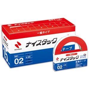 その他 (まとめ) ニチバン ナイスタック 再生紙両面テープ ブンボックス 大巻 15mm×20m NWBB-15 1パック(10巻) 【×5セット】 ds-2221381