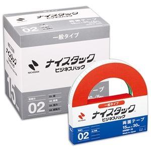 その他 (まとめ) ニチバン ナイスタック 再生紙両面テープ ビジネスパック 大巻 15mm×30m NWBP-15 1パック(5巻) 【×5セット】 ds-2221406