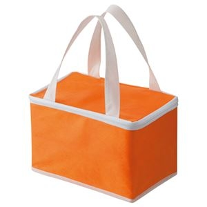 その他 (まとめ) TANOSEE 不織布保冷バッグ ヨコ215×タテ145×マチ幅140mm オレンジ 1パック(5枚) 【×5セット】 ds-2221677