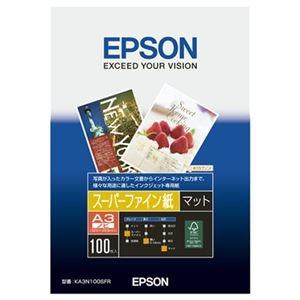 その他 (まとめ) エプソン EPSON スーパーファイン紙 A3ノビ KA3N100SFR 1箱(100枚) 【×5セット】 ds-2221922