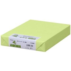 その他 (まとめ) 長門屋商店 Color Paper A4厚口 うぐいす ナ-3358 1冊(500枚) 【×5セット】 ds-2222273