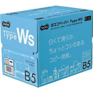 その他 (まとめ) TANOSEE αエコペーパータイプWS 白くて滑らか、ちょっとコシのあるコピー用紙。 B5 1箱(2500枚:500枚×5冊) 【×5セット】 ds-2222339