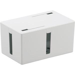 その他 (まとめ) バッファロー ケーブルボックス 電源タップ&ケーブル収容 Sサイズ ホワイト BSTB01SWH 1個 【×5セット】 ds-2222821