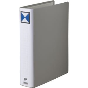 その他 (まとめ) TANOSEE 両開きパイプ式ファイル A4タテ 500枚収容 背幅66mm グレー 1セット(10冊) 【×5セット】 ds-2223044