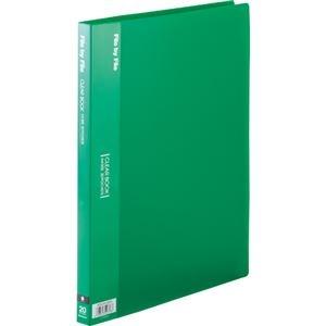 その他 (まとめ) ビュートン クリヤーブック(クリアブック) A4タテ 20ポケット 背幅17mm グリーン BCB-A4-20GN 1セット(10冊) 【×5セット】 ds-2223352