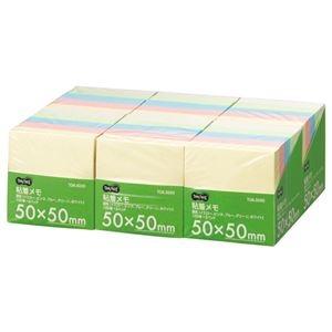 その他 (まとめ) TANOSEE 粘着メモ<ボリュームパック> 50×50mm 5色 1セット(30冊:5冊×6パック) 【×5セット】 ds-2223424