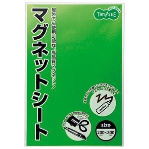 その他 (まとめ) TANOSEE マグネットカラーシートワイド 300×200×0.8mm 緑 1セット(10枚) 【×5セット】 ds-2223506