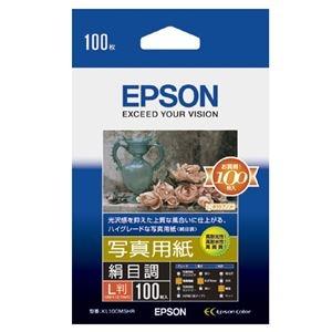 その他 (まとめ) エプソン EPSON 写真用紙<絹目調> L判 KL100MSHR 1箱(100枚) 【×10セット】 ds-2224059