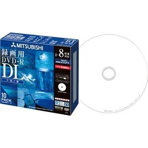 その他 (まとめ) 三菱ケミカルメディア 録画用DVD-RDL 215分 2-8倍速 ホワイトワイドプリンタブル 5mmスリムケース VHR21HDSP101パック(10枚) 【×10セット】 ds-2224685