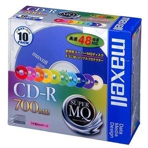その他 (まとめ) マクセル データ用CD-R 700MB 48倍速 10色カラーMIX 5mmスリムケース CDR700S.MIX1P10S 1パック(10枚) 【×10セット】 ds-2224919