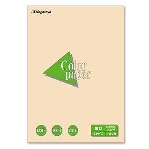 その他 (まとめ) 長門屋商店 Color Paper B4 厚口 アイボリー ナ-2315 1冊(100枚) 【×10セット】 ds-2224935