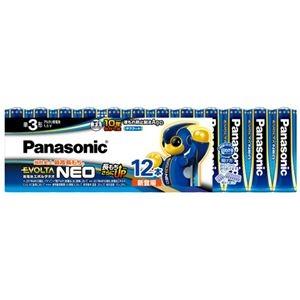 その他 (まとめ) パナソニック アルカリ乾電池EVOLTAネオ 単3形 LR6NJ/12SW 1パック(12本) 【×10セット】 ds-2225183