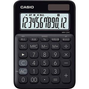 格安販売中 その他 (まとめ) カシオ カラフル電卓 ミニジャストタイプ12桁 ブラック MW-C20C-BK-N 1台 【×10セット】 ds-2225667, 仏事のギャラリー 70d9d132