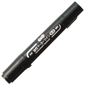 その他 (まとめ) TANOSEE キャップ式油性マーカーツイン 太字(丸芯)+細字 黒 1セット(10本) 【×10セット】 ds-2226338