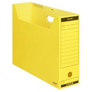 その他 (まとめ) コクヨファイルボックス-FS(Bタイプ) B4ヨコ 背幅102mm 黄 フタ付 B4-LFBN-Y 1パック(5冊) 【×10セット】 ds-2226726