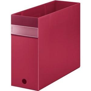 その他 (まとめ) キングジム FAVORITESボックスファイル(透明) A4ヨコ 収納幅100mm 赤 FV4903Tアカ 1個 【×10セット】 ds-2226846