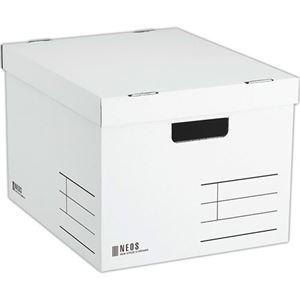 その他 (まとめ) コクヨ 収納ボックス(NEOS)Lサイズ フタ付き ホワイト A4-NELB-W 1個 【×10セット】 ds-2226861